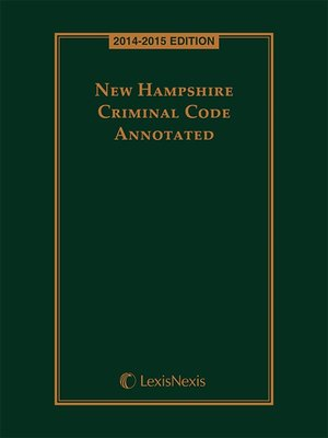 cover image of New Hampshire Criminal Code