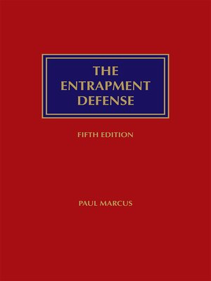 cover image of The Entrapment Defense