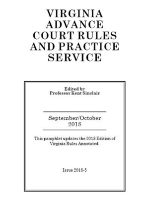 cover image of Virginia Advance Court Rules and Practice Service