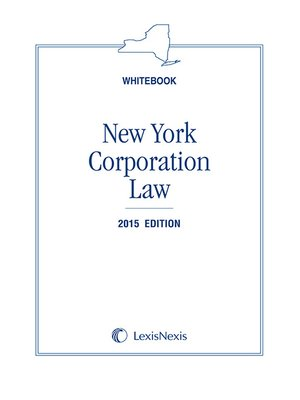 cover image of New York Corporation Law