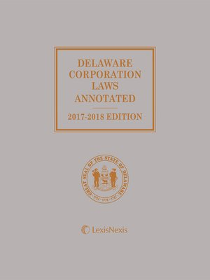 cover image of Delaware Corporation Laws Annotated