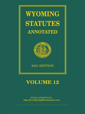 cover image of Wyoming Statutes Annotated