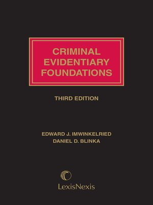 cover image of Criminal Evidentiary Foundations