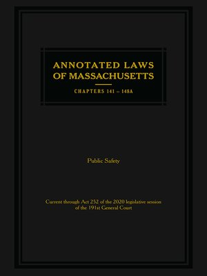 cover image of Annotated Laws of Massachusetts