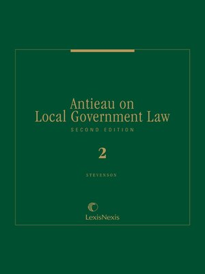cover image of Antieau on Local Government Law
