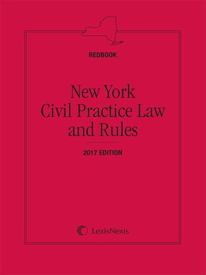 cover image of New York Civil Practice Law and Rules