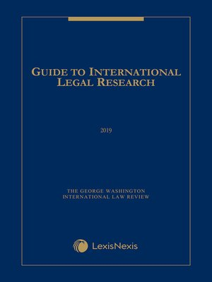 cover image of Guide to International Legal Research