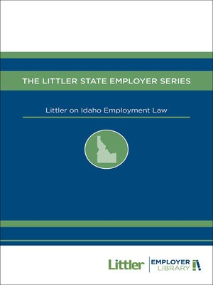 cover image of Littler on Idaho Employment Law