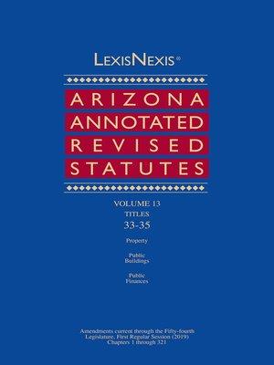 cover image of LexisNexis Arizona Annotated Revised Statutes