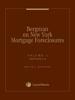cover image of Bergman on New York Mortgage Foreclosures