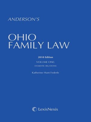 cover image of Anderson's Ohio Family Law
