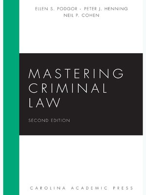 Cover of  Mastering Criminal Law