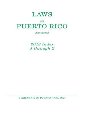 cover image of Laws of Puerto Rico Annotated