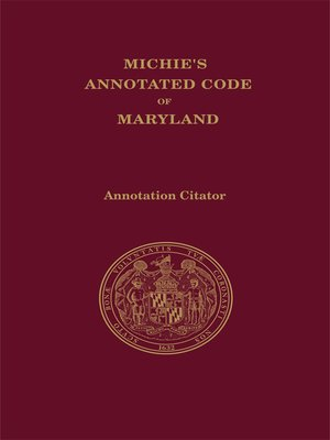cover image of Maryland Code Citator