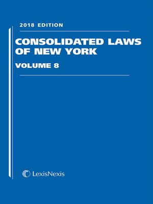 cover image of Consolidated Laws of New York