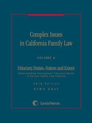 cover image of Complex Issues in California Family Law