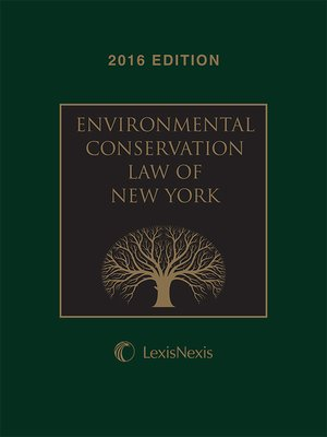 cover image of Environmental Conservation Law of New York