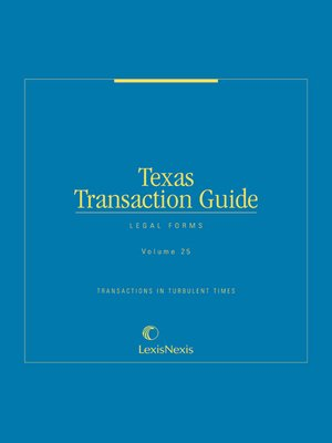 cover image of Texas Transaction Guide: Legal Forms