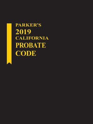 cover image of Parker's California Probate Code