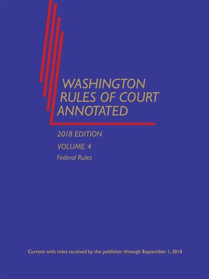 cover image of Washington Rules of Court Annotated