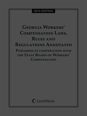 cover image of Georgia Workers' Compensation Laws