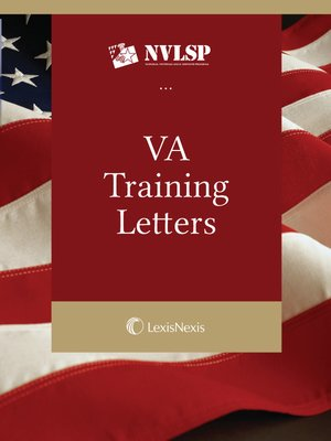 cover image of National Veterans Benefits Manual