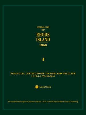 cover image of General Laws of Rhode Island