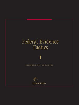 cover image of Federal Evidence Tactics