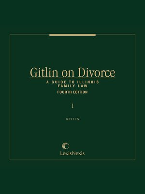 cover image of Gitlin on Divorce: A Guide to Illinois Family Law
