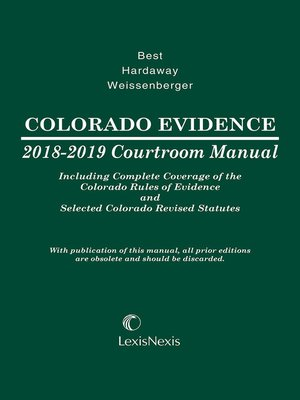 cover image of Colorado Evidence Courtroom Manual