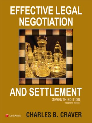 cover image of Effective Legal Negotiation and Settlement