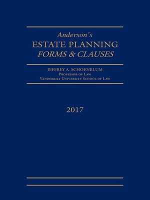 cover image of Estate Planning Forms and Clauses