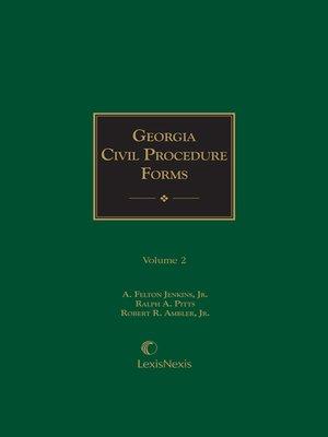 cover image of Georgia Civil Procedure Forms
