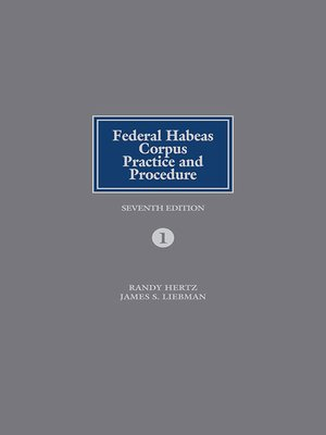 cover image of Federal Habeas Corpus Practice and Procedure