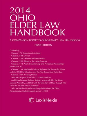 cover image of 2014 Ohio Elder Law Handbook