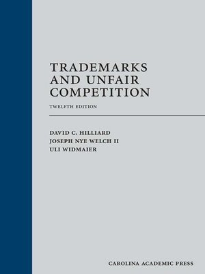 cover image of Trademarks and Unfair Competition
