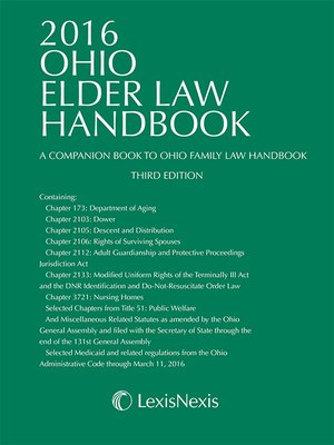 cover image of 2016 Ohio Elder Law Handbook