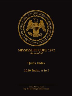 cover image of Mississippi Code of 1972 Annotated