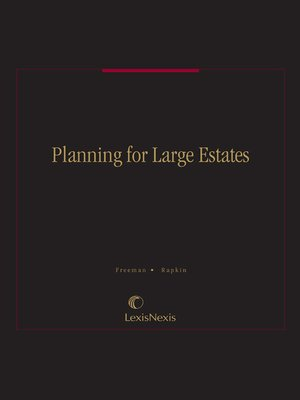 cover image of Planning for Large Estates