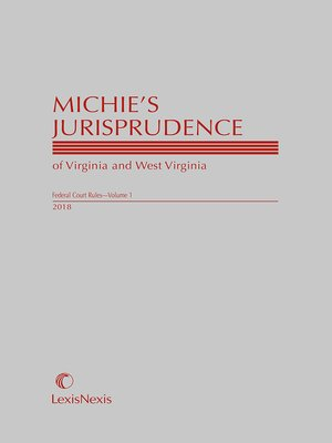 cover image of Michie's Jurisprudence of Virginia and West Virginia