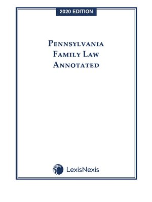 cover image of Pennsylvania Family Law Annotated