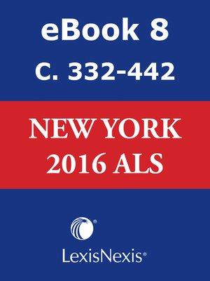 cover image of New York CLS Advance Legislative Service