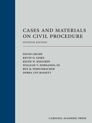 cover image of Cases and Materials on Civil Procedure