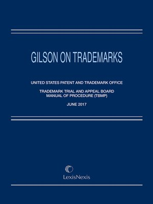 cover image of Gilson on Trademarks