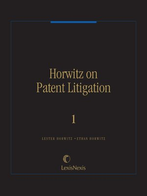 cover image of Horwitz on Patent Litigation