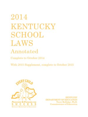 cover image of 2016 Kentucky School Laws Annotated