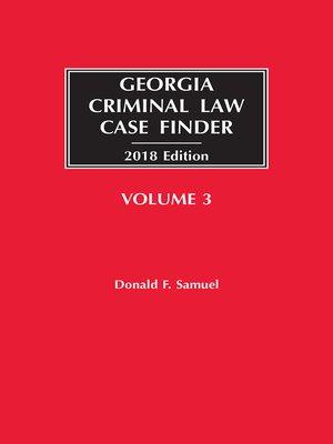 cover image of Georgia Criminal Law Case Finder