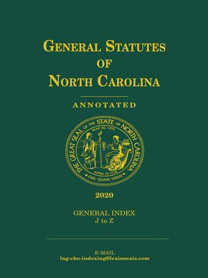 cover image of General Statutes of North Carolina Annotated