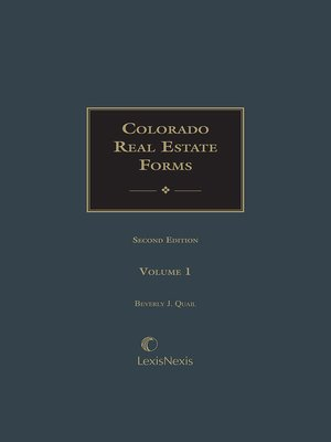cover image of Colorado Real Estate Forms
