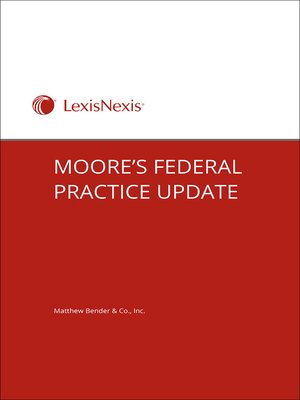 cover image of Moore's Federal Practice Update